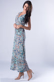 Floral Print Maxi Dress - VS FASHIONS