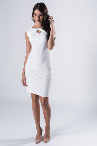 Ruffled Bodycon Midi Dress