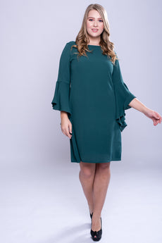 CURVE Flutter Sleeve Dress - Teal