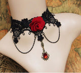 Maxi necklace fashion statement necklace flower choker necklace - VS FASHIONS