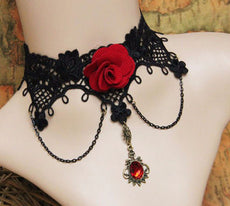 Maxi necklace fashion statement necklace flower choker necklace