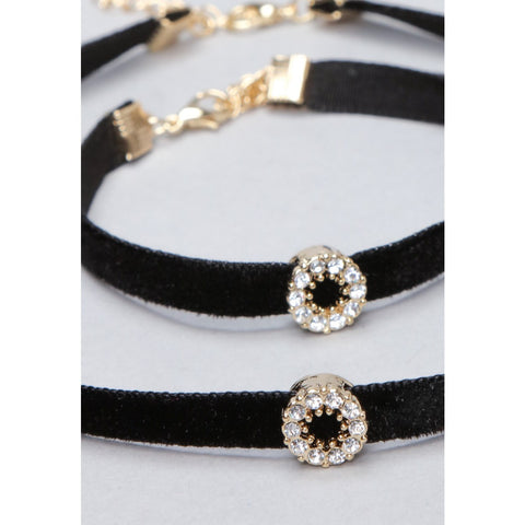 Choker Necklace With Bracelet