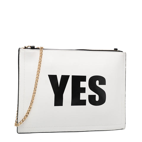 Yes/No Clutch - Melie Bianco - 1