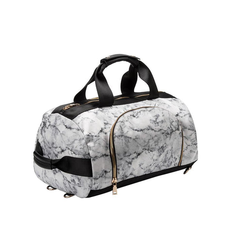 CT218 White Meta Weekender Bag