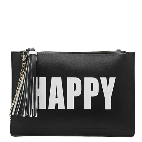 Happy Sad Flat Clutch - Melie Bianco - 3