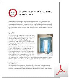 Dyeing Fabric & Painting Upholstery