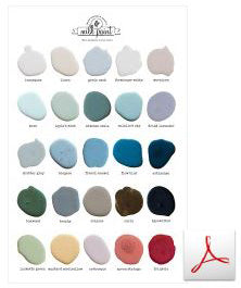 Miss Mustard Seed's Milk Paint Color Card