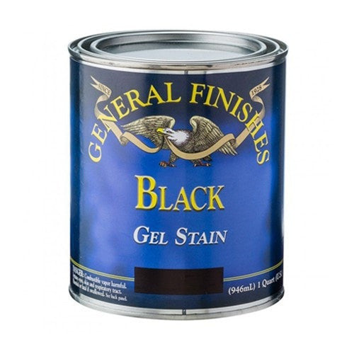 General Finishes Gel Stain - Black - PINT