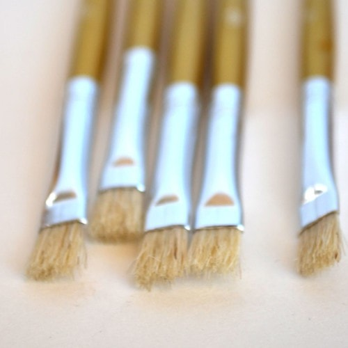 Brush - Gilding Wax Natural Bristle Size 6