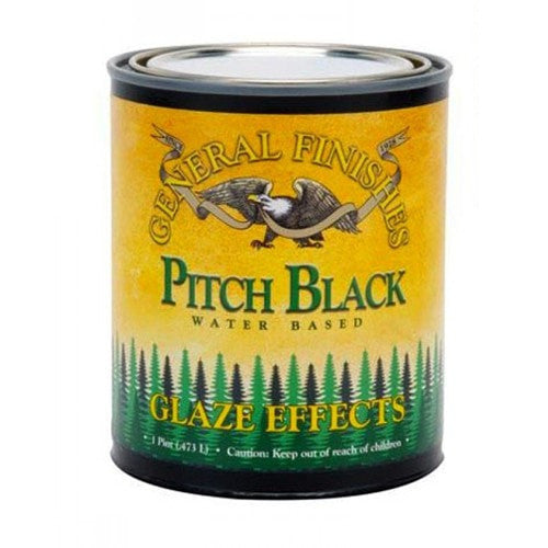 General Finishes Glaze Effects - Pitch Black - QUART