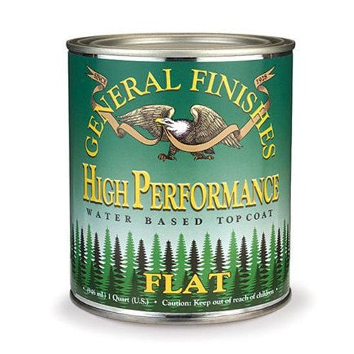 General Finishes High Performance Topcoat - Flat QUART