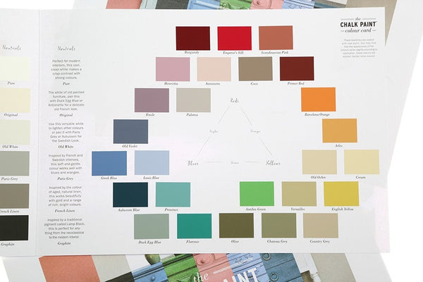 Chalk Paint Color Card by Annie Sloan