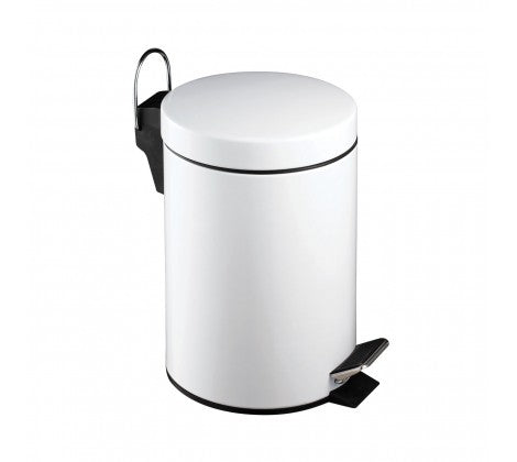 White Pedal Bin, 3L - Adapt Avenue
