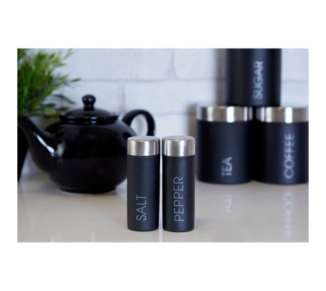 Black Salt & Pepper Shaker Set - Adapt Avenue