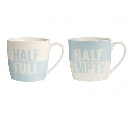 Half full' & 'Half empty' Set of 2 Mugs - Adapt Avenue