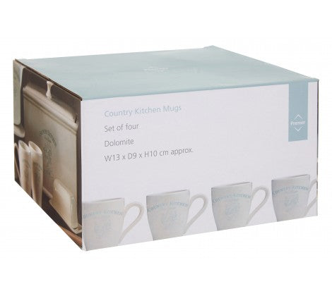Country Kitchen Mugs - Set of 4 - Adapt Avenue