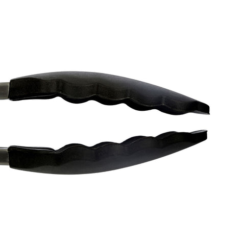 Zing - Silicone/Steel Tongs, Black | Adapt Avenue