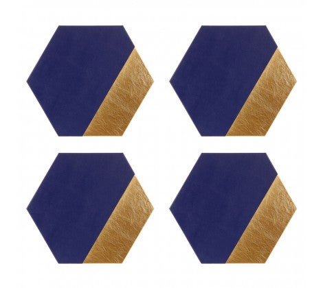Geome Dipped Hexagonal Set of 4 Placemats - Adapt Avenue