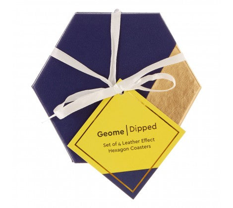 Geome Dipped Hexagonal Set of 4 Coasters - Adapt Avenue