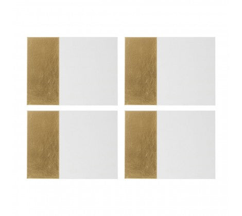 Geome Gold Dipped Set of 4 Placemats - Adapt Avenue