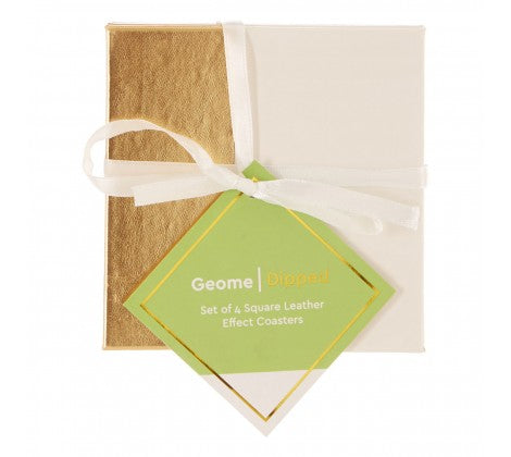 Geome Gold Dipped Set of 4 Coasters - Adapt Avenue