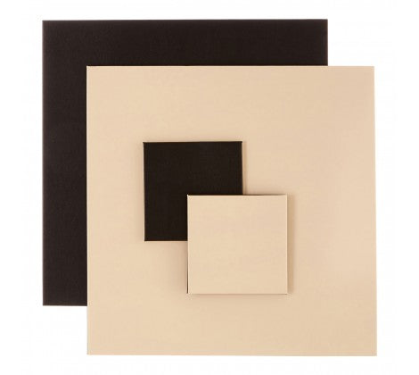 Geome Reverse Black & Cream Placemats And Coasters - Adapt Avenue