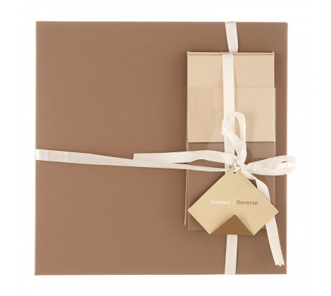 Geome Reverse Cream & Taupe Placemats And Coasters - Adapt Avenue