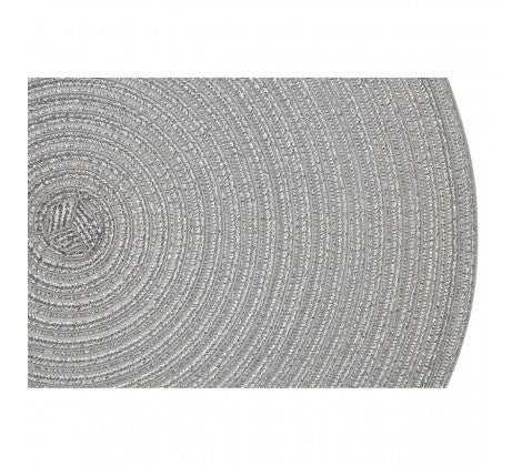 Silver Round Woven Placemat - Adapt Avenue