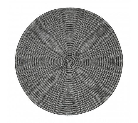 Black Round Woven Placemat - Adapt Avenue