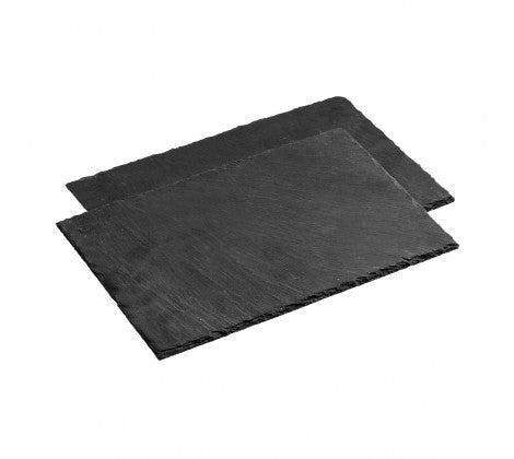 Set of 2 Grey Rectangular Slate Placemats - Adapt Avenue