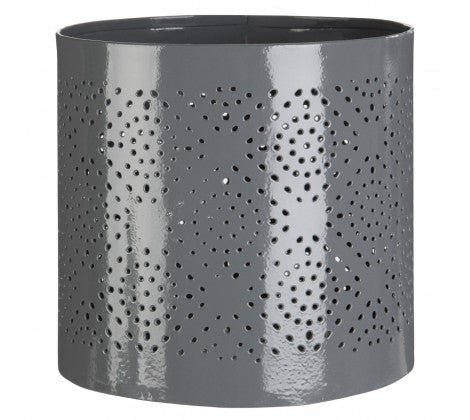 Complements Small Grey Hurricane Candle Holder - Adapt Avenue