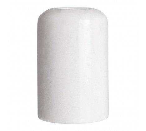 Lamonte Small White Marble Candle Holder - Adapt Avenue