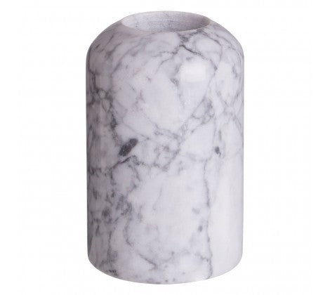 Lamonte Small Grey Marble Candle Holder - Adapt Avenue