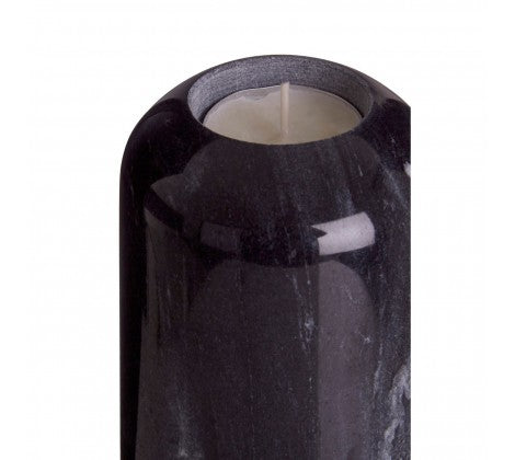 Lamonte Small Black Marble Candle Holder - Adapt Avenue