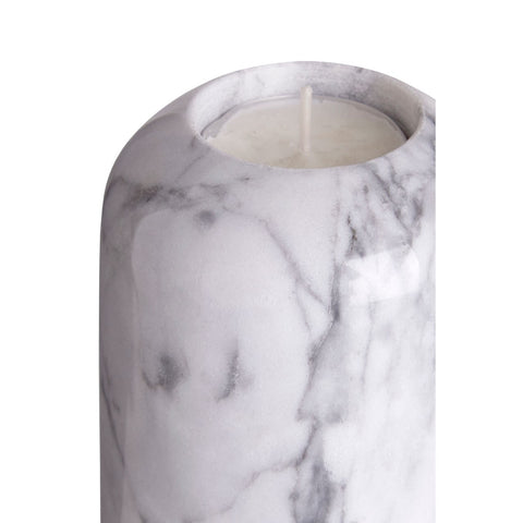Lamonte Large Grey Marble Candle Holder