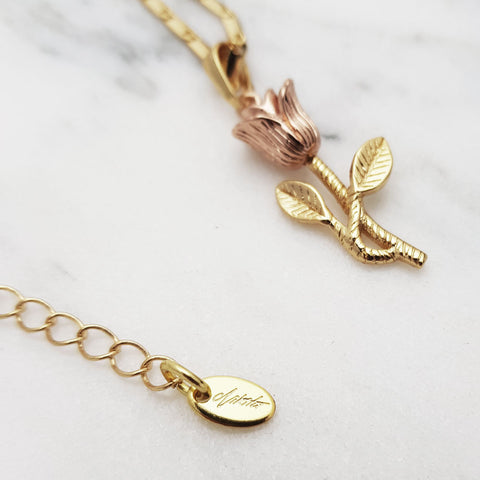 Vera Rose 24K Necklace - Adapt Avenue
