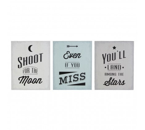Set of 3 Wall Plaques - Adapt Avenue