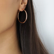 Rose Gold Hoop Earrings - Adapt Avenue
