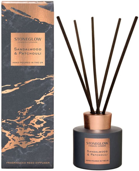 Stoneglow Luna Sandalwood & Patchouli Reed Diffuser | Adapt Avenue