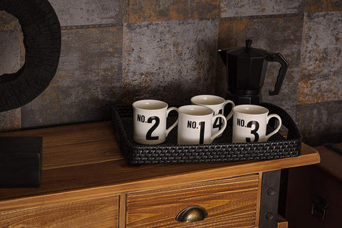 Set of 4 Number Mugs - Adapt Avenue