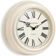 Lascelles Classic Cream Wall Clock, 32cm - Adapt Avenue
