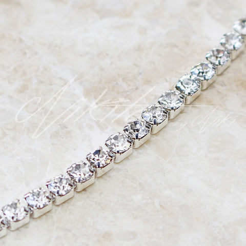 1 Row Rhinestone Choker - Adapt Avenue