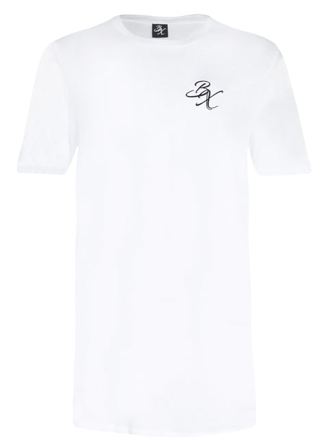 BX Long Line T-shirt - White - Adapt Avenue