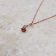 Infinity Sterling Silver Rose Necklace - Rose Gold - Adapt Avenue