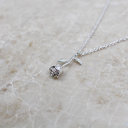 Infinity Sterling Silver Rose Necklace - Silver - Adapt Avenue