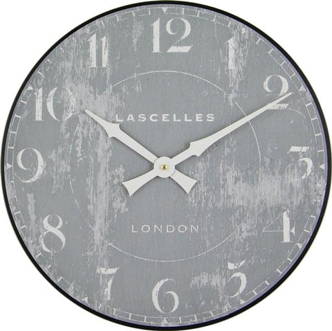 Wooden Wall Clock Grey, 36cm - Adapt Avenue