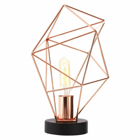 Wyra Copper Finish Table Lamp - Adapt Avenue