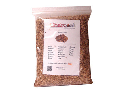 Pecan Wood Chips Fine - Case of 12-2 lb. Bags