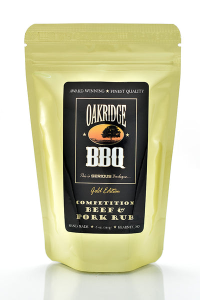Oakridge BBQ Gold Edition Competition Beef & Pork Rub - 6 oz