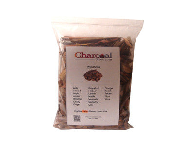 Alder Wood Chips Large - Case of 12-2 lb. Bag